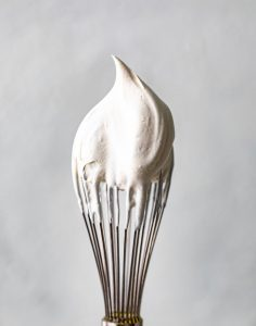 whipped cream on a whisk